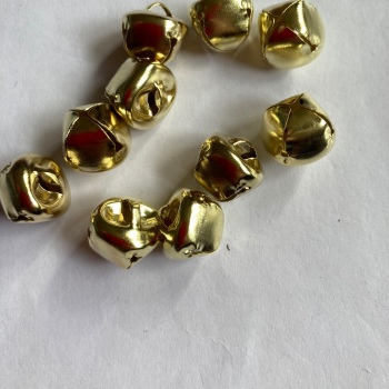 Bells - Gold 15mm approx  (Pack of  10)
