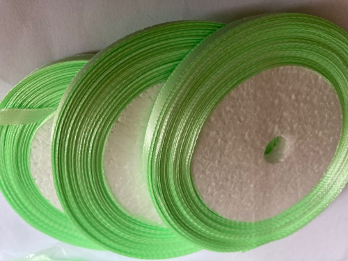 Green- Apple  Single Satin Ribbon 10mm FULL ROLL 25 yards/22+metres