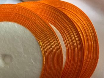 Orange Single Satin Ribbon 6mm FULL ROLL 25 yards/22+metres