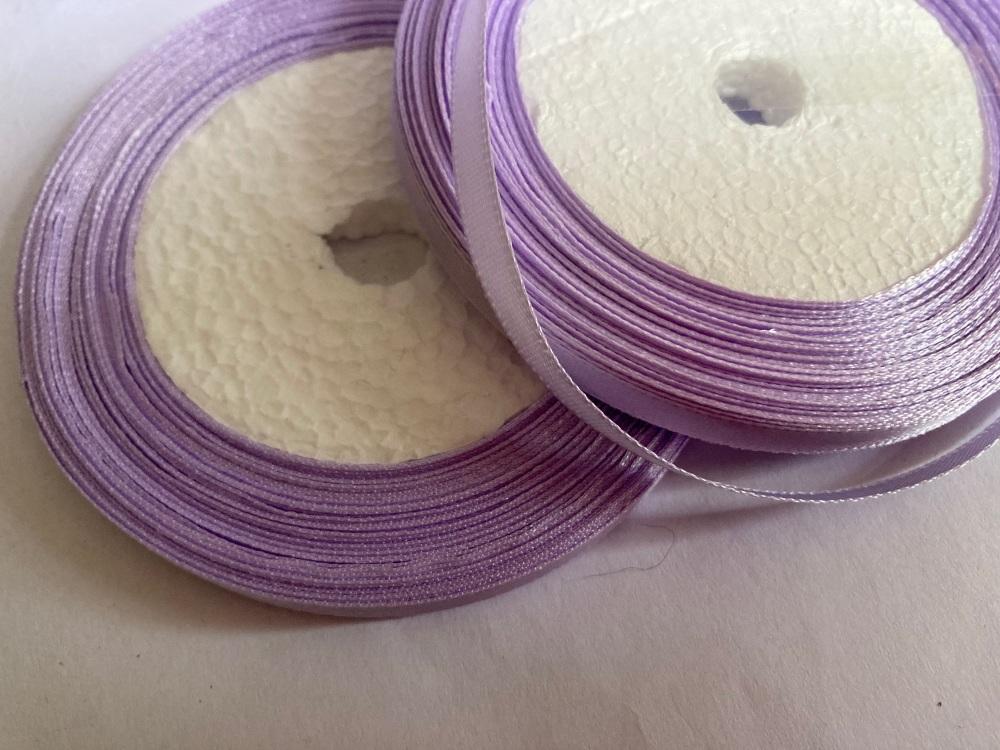 Lilac Single Satin Ribbon 6mm FULL ROLL 25 yards/22+metres
