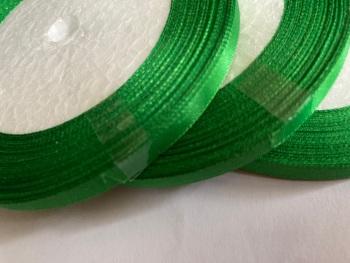 Green - Emerald Single Satin Ribbon 6mm FULL ROLL 25 yards/22+metres