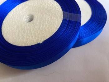 Blue - Royal Single Satin Ribbon 10mm FULL ROLL 25 yards/22+metres