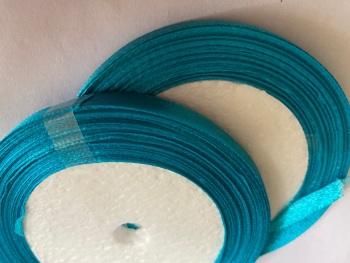 Turquoise/Dark Single Satin Ribbon 6mm FULL ROLL 25 yards/22+metres