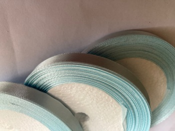 Blue - Pale  Single Satin Ribbon 10mm FULL ROLL 25 yards/22+metres