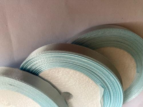 Blue - Pale  Single Satin Ribbon 10mm FULL ROLL 25 yards/22+metres