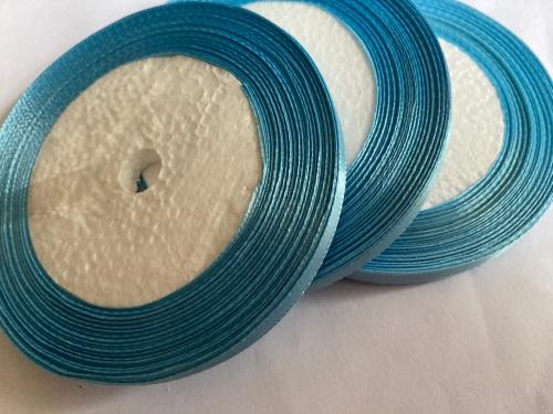 Blue Single Satin Ribbon 6mm FULL ROLL 25 yards/22+metres