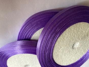 Lilac - Dark Single Satin Ribbon 10mm FULL ROLL 25 yards/22+metres