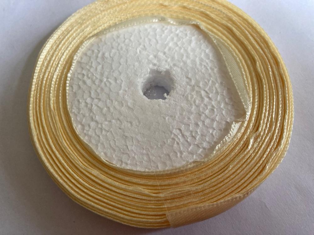 Cream Single Satin Ribbon 10mm FULL ROLL 25 yards/22+metres