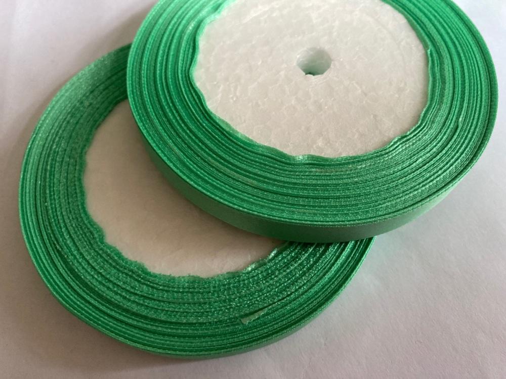 Green Single Satin Ribbon 10mm FULL ROLL 25 yards/22+metres