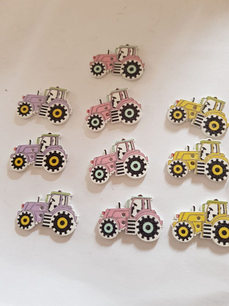 Tractor Buttons 29x20mm Pack of 10 MX20