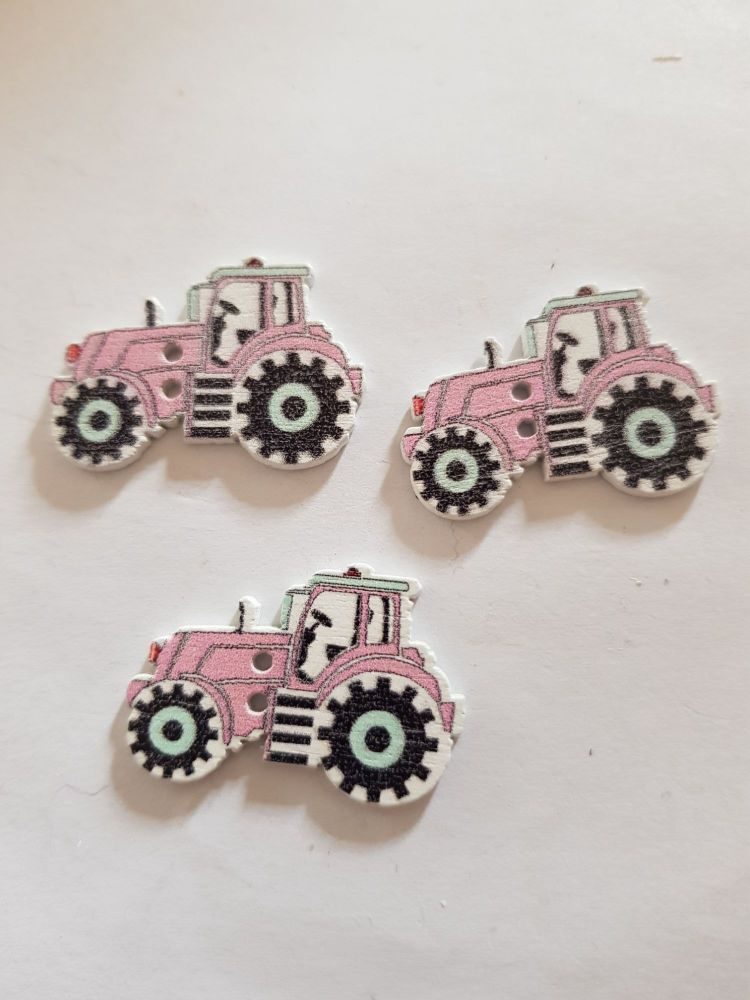 Tractor Buttons 29x20mm Pack of 8 WD69