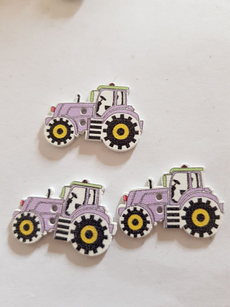 Tractor Buttons 29x20mm Pack of 8 WD70