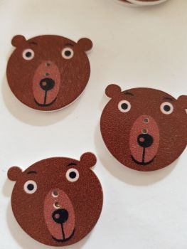 Bear Buttons 30x28mm Pack of 5 WD83