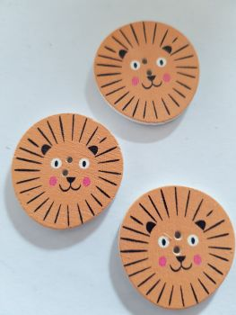 Lion Buttons 30mm Pack of 5 WD85