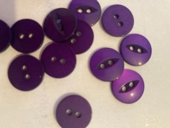 Purple Fisheye Button 14mm (Pack of 15)
