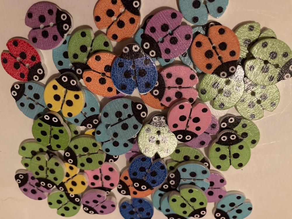 Ladybugs 20x16mm Random Mix (Pack of 12) BC02