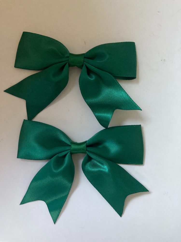 Bottle Green Bow 80mm (Pack of 3)
