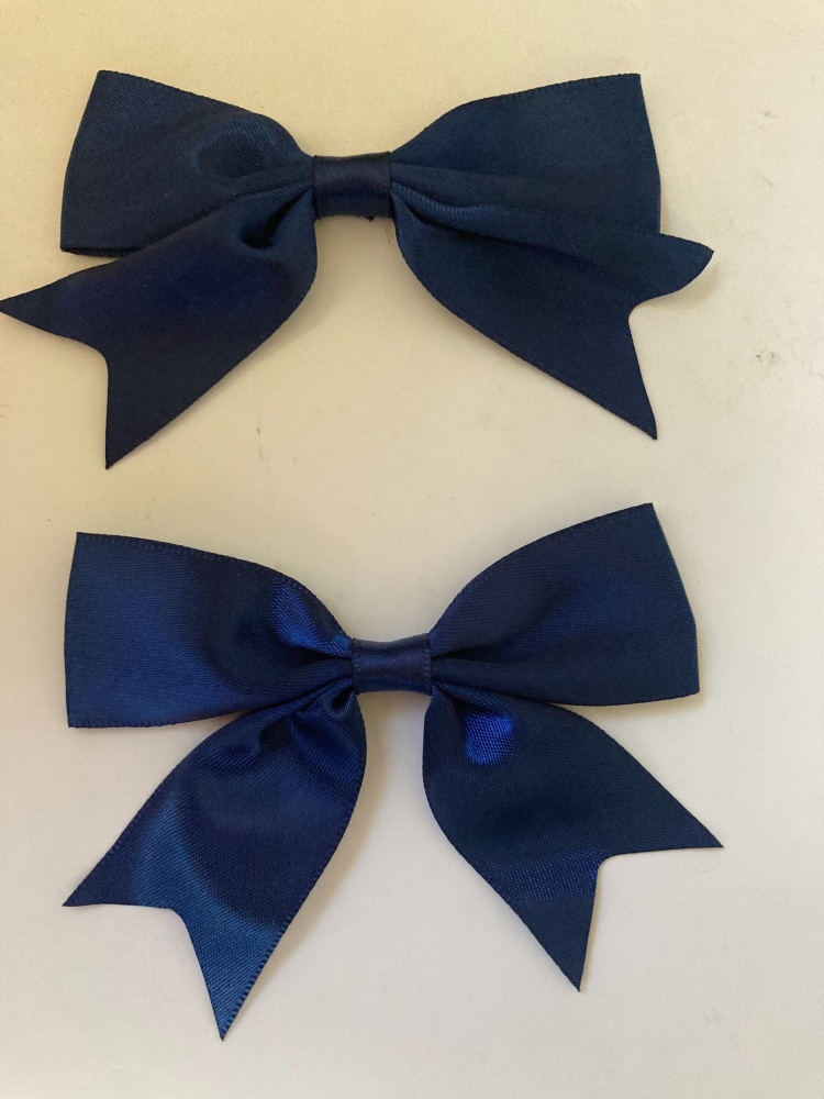 Navy Bow 80mm (Pack of 3)