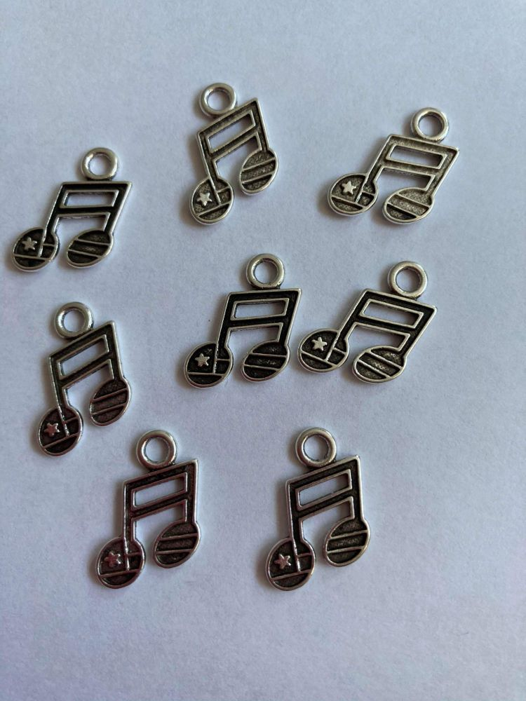 Musical Notes Charms  (Pack of 8 ) CH83