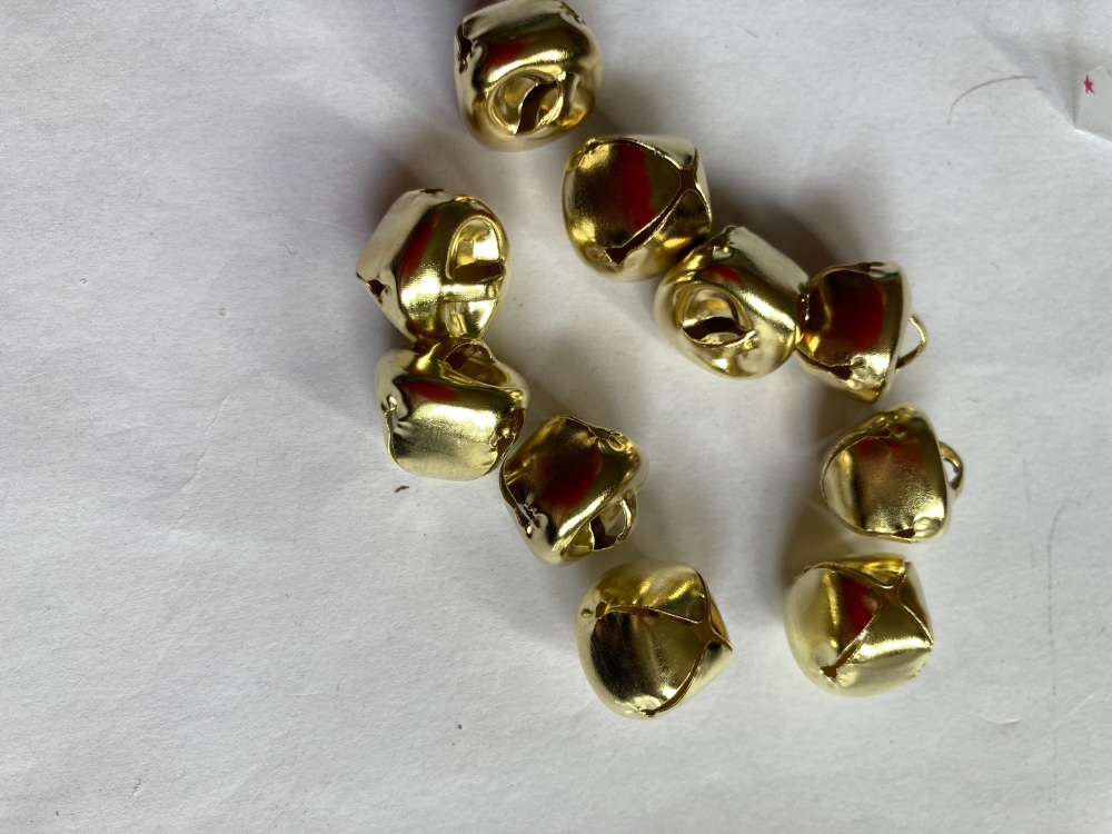 Bells - Gold 14mm approx  (Pack of  12) BL02