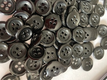 Black Button - 14mm (Pack of 15) MN10