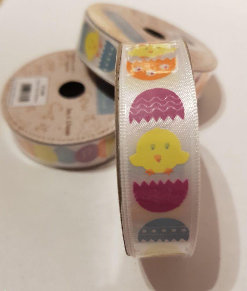 Easter Egg / Chick  Satin Ribbon 15mm (3 metres)