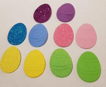 Easter Stickers /Foam - Eggs (Pack of 12) Mixed Colours