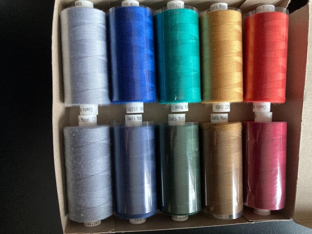 10 x Mixed Colour Thread 1000 yards each (as shown) MT08