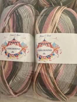 Fairground DK 100g Pinks , Grey (G12) James C Brett
