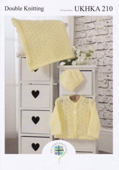 Childrens Knitting Pattern Cardigan / Blanket  UKHKA210