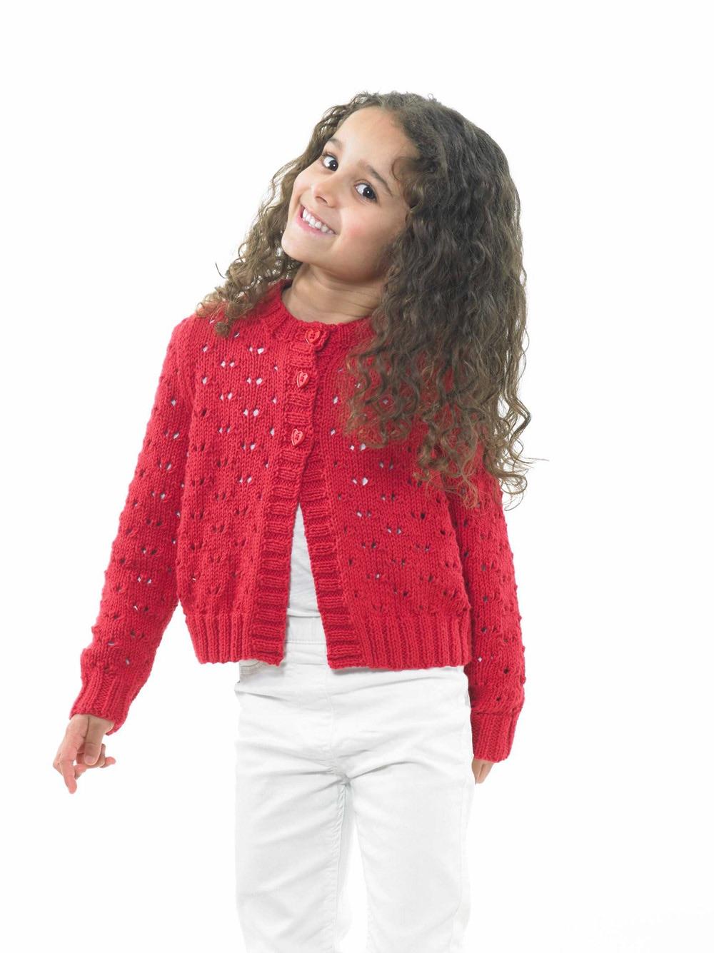 Childrens Knitting Pattern Cardigan JB675