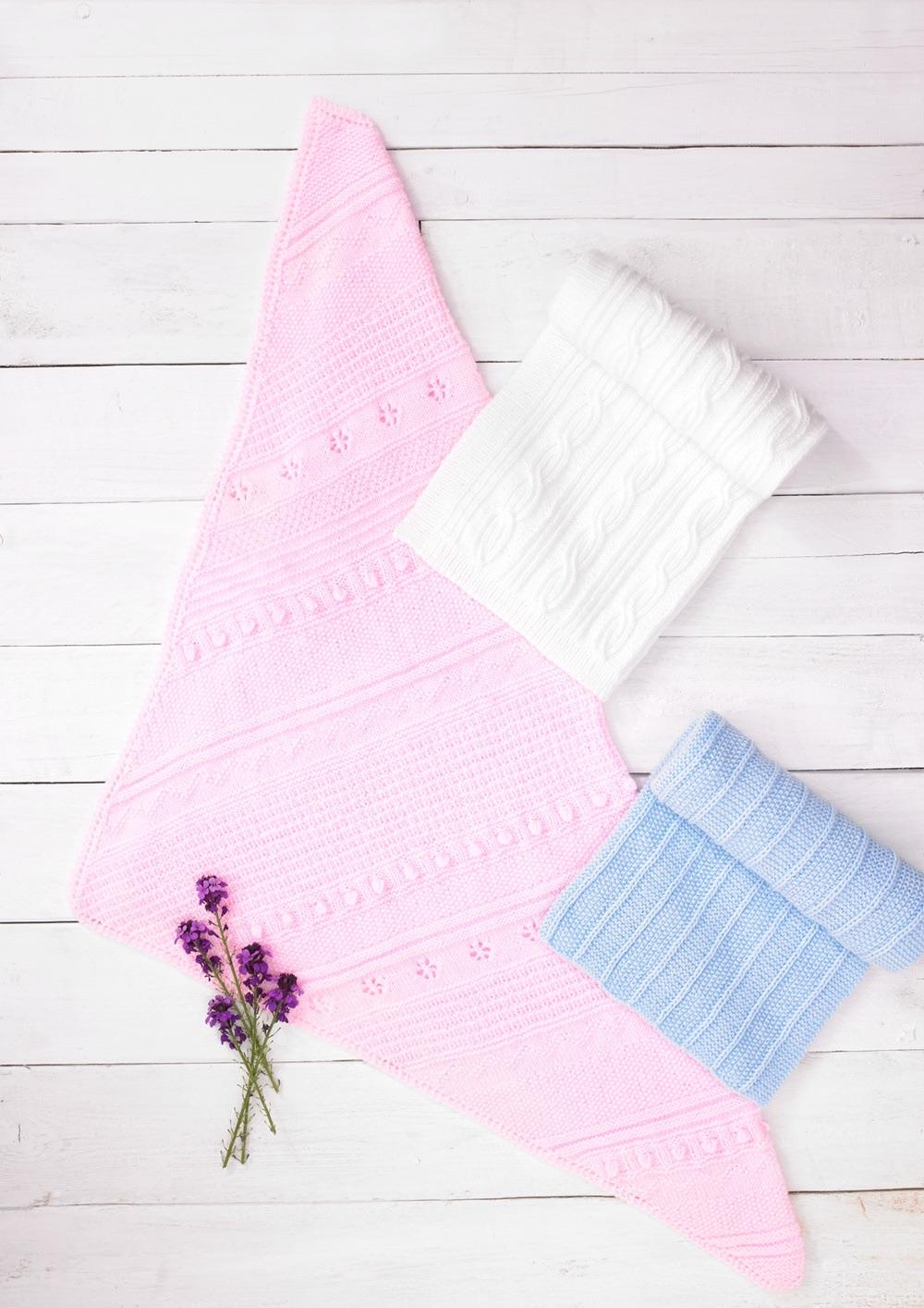 Childrens Knitting Pattern Blanket  JB689