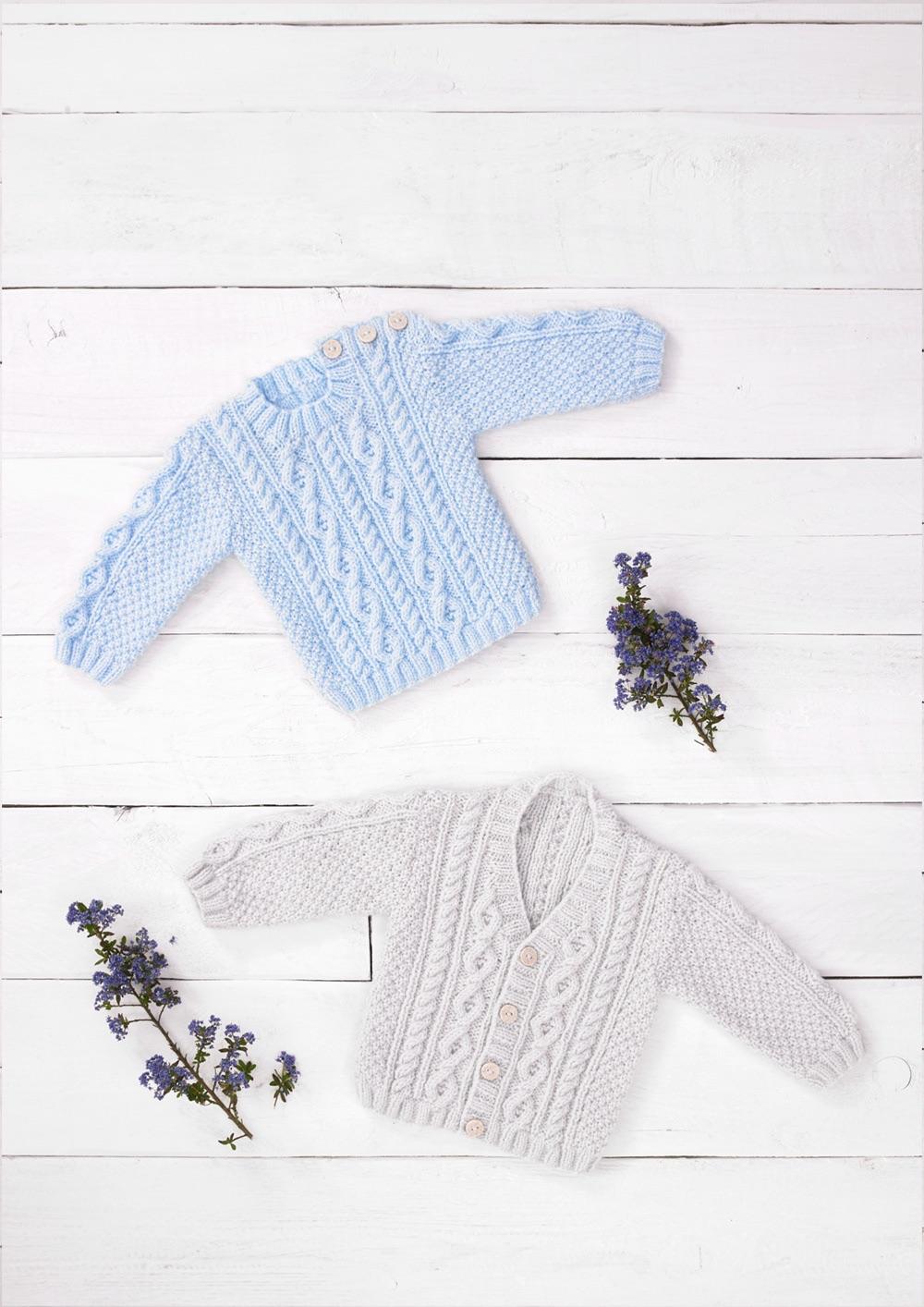 Childrens Knitting Pattern Aran Cardigan / Jumper JB691