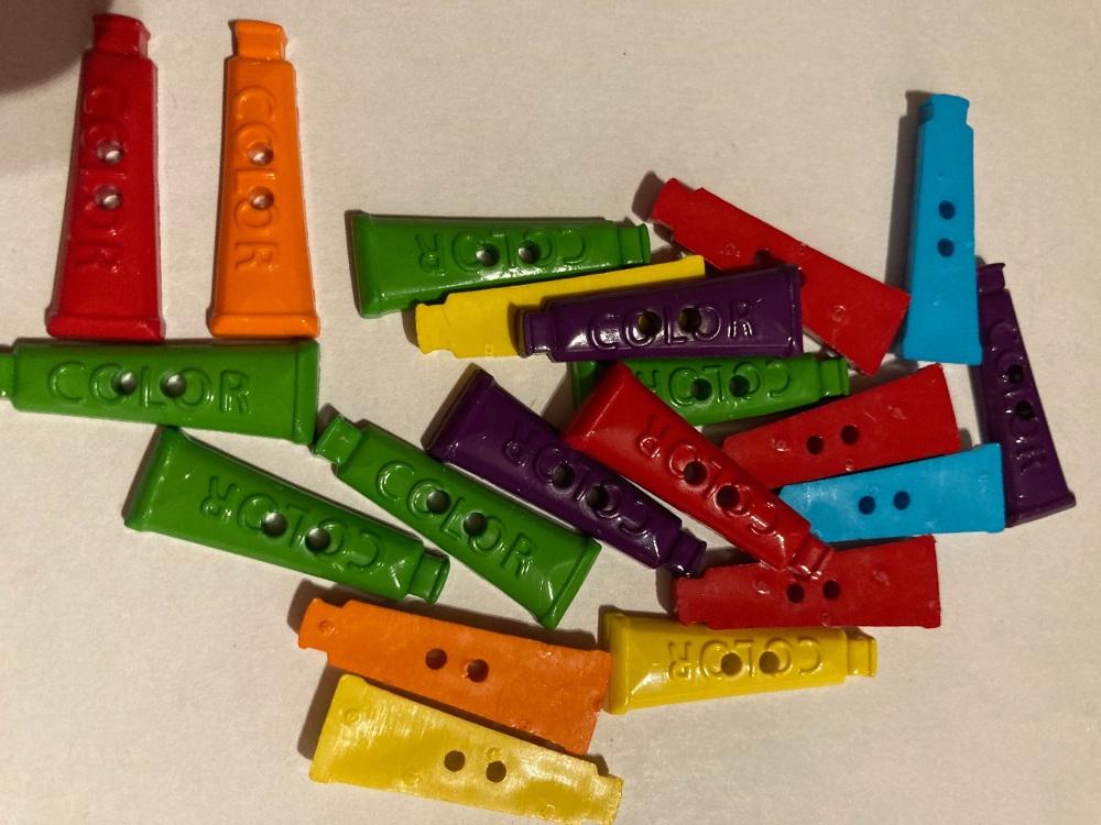 School Collection- Buttons / Embellishments Paint (8 pack) Random Mix SC17