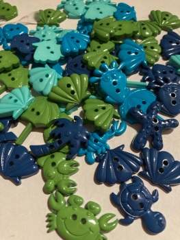 Beach /Sea Collection- Buttons / Embellishments (8 pack) Random Mix SC23