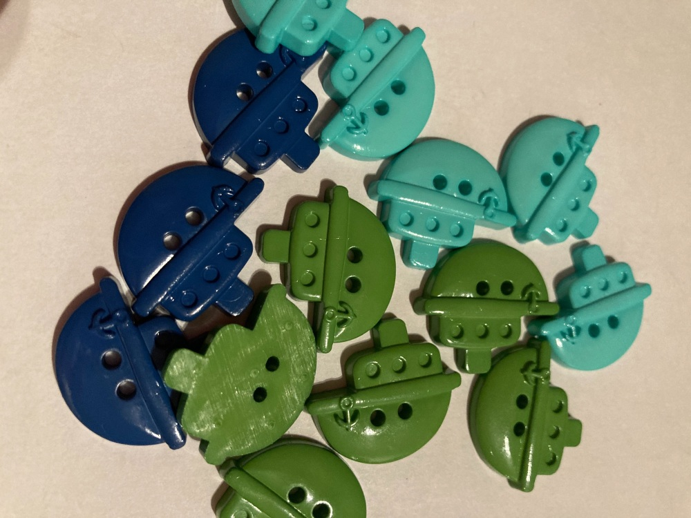Beach /Sea Collection- Buttons / Embellishments Boats (7 pack) Random Mix S