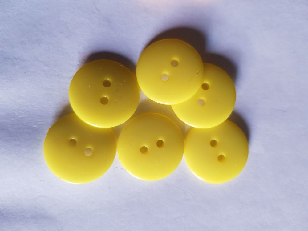 Yellow  Buttons 17mm (Pack of 12)LY43