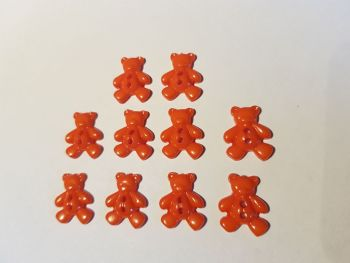 Teddy Buttons 20x12mm - Orange (Pack of 10) EV11