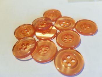 Peach (Lighter ) Buttons 15mm (Pack of 10)