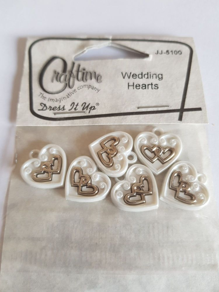 Embellishments/Card Making - Wedding Hearts Pack