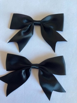 Black Bow 80mm (Pack of 3)