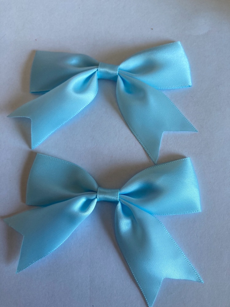 Blue Bow 80mm (Pack of 3)