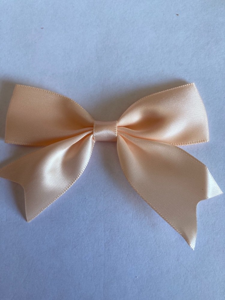 Peach Bow 80mm (Pack of 3)
