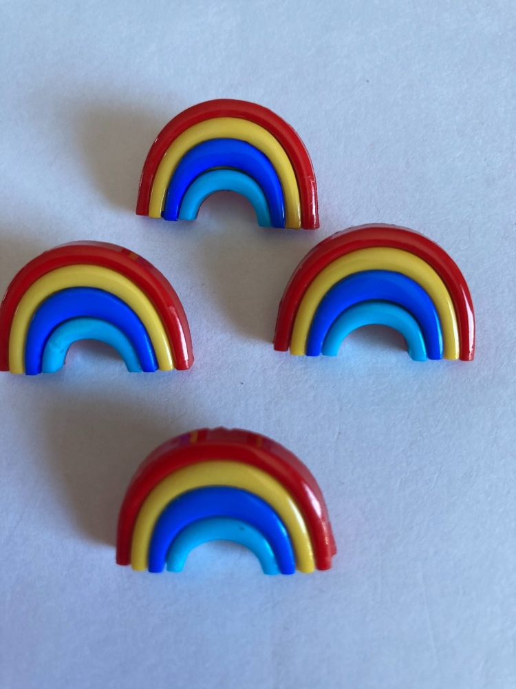 Rainbow Buttons - Bright 25mm (Each)