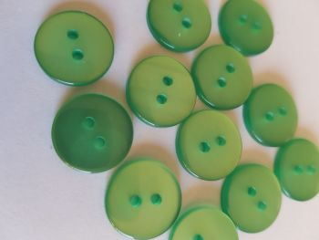 Green Buttons 15mm (Pack of 12) LY45