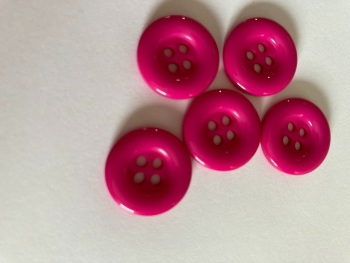 Cerise  Buttons 18mm (Pack of 10) QA12