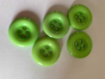Green Buttons 18mm (Pack of 10) QA16