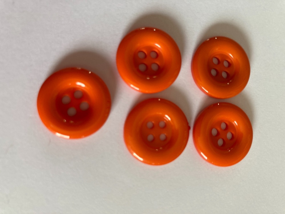Orange  Buttons 18mm (Pack of 10) QA11