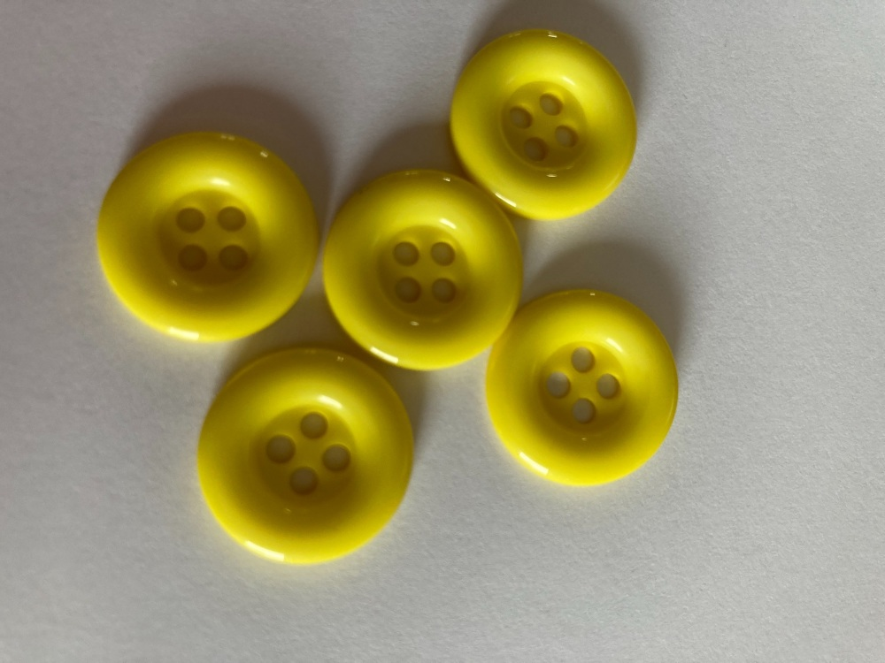 Yellow Buttons 18mm (Pack of 10) QA13