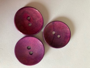 Purple Wooden Button 25mm (Pack of 6) CW12